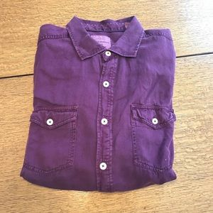 Purple Long Sleeve Button Down Tommy Bahama Shirt